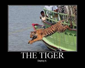 The Tiger, deploy it